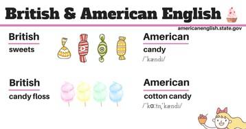 Шпаргалки в картинках: разница между британским и американским английским