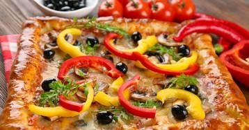 Пышная домашняя пицца