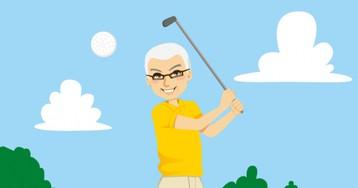 Анекдот про то, как пожилые джентльмены в гольф играли
