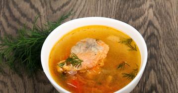 Рыбный суп с брюшками лосося