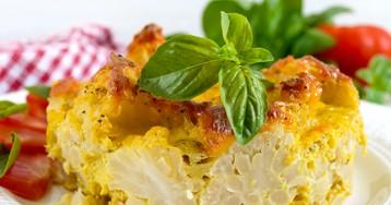 Запечённая цветная капуста под сырным соусом