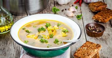 Овощной суп с брокколи и цветной капусты