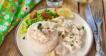 Куриное филе в сливочном соусе – быстрый рецепт!