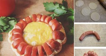 Оригинальная яичница с сосиской для детей: пошаговый фото рецепт
