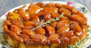 """Пирог """"Персик в карамели"""""""