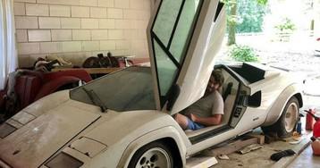 Вдруг что завалялось: внук нашел в гараже у бабушки эксклюзивный Lamborghini Countach