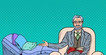 Анекдот про молчаливого пациента наприёме упсихоаналитика