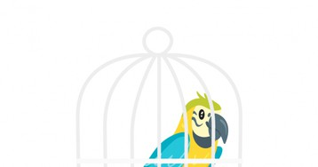Анекдот про то, как мужик сговорящим попугаем выпивал