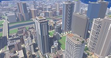 Японский геймер создаёт в Minecraft города, похожие на фотографии. Их реалистичность и детализация поражают