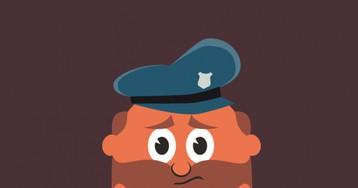Анекдот про голого полицейского, пришедшего наработу