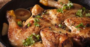 Цыплёнок табака (тапака) по-грузински с соусом ниорцкали