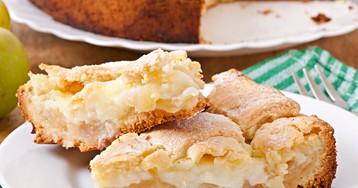 Восхитительный яблочный пирог с заварным кремом