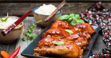 Куриные голени в кисло-сладком соусе