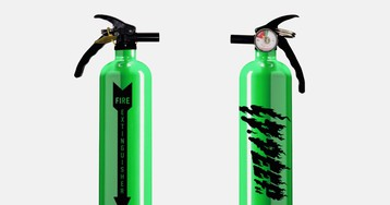 10.Deep's Neon Green Fire Extinguisher Is Life-Saving Heat