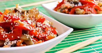 Жареные баклажаны по-корейски