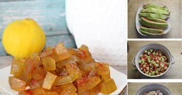 Пошаговый фото-рецепт: Цукаты из арбузных корок