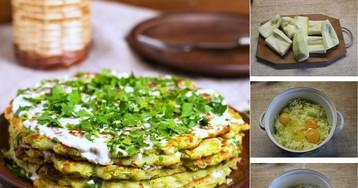 Кабачковый торт c овощной начинкой и сыром: пошаговый фото рецепт