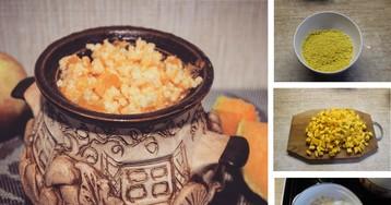 Пшенная каша с тыквой, томленная в духовке: пошаговый фото рецепт