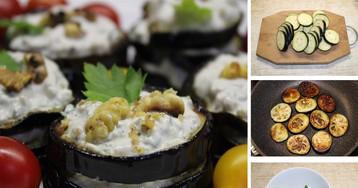 Пикантная слоеная закуска из баклажанов: пошаговый фото-рецепт