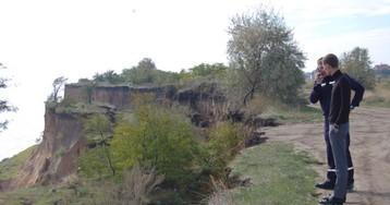 В Одесской области произошёл масштабный оползень