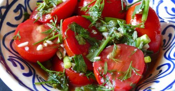 Соленые помидоры другим манером