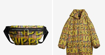 Rock High Fashion on the Streets in Burberry's Vandalized Vintage Check