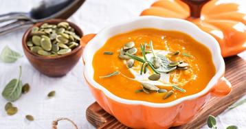 Аппетитный тыквенный суп-пюре со сметаной