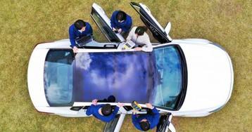 Hyundai and Kia reveal solar roof cars