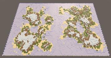 [Перевод] Карты из шестиугольников в Unity: круговорот воды, эрозия, биомы, цилиндрическая карта
