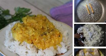 Кокосовое карри из курицы с профессиональным набором специй:  пошаговый фото-рецепт