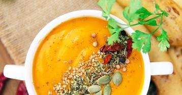 Вкуснейший суп из запеченной тыквы