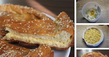Сырный пирог - умопомрачительный пример домашней выпечки: пошаговый фото рецепт
