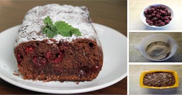 Изумительно вкусный постный вишневый кекс: пошаговый фото рецепт