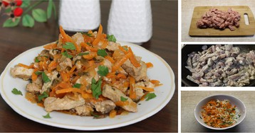 """Корейское блюдо """"Хе"""" из мяса: пошаговый фото рецепт"""