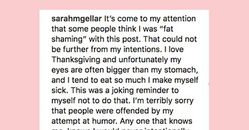 Sarah Michelle Gellar Facing 'Body-Shaming' Backlash Over Thanksgiving Post