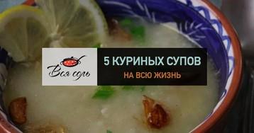 5 куриных супов на всю жизнь