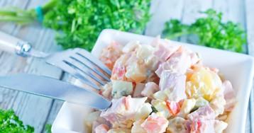 Салат «Боярский» с ветчиной и овощами