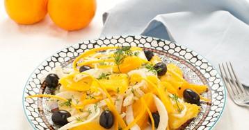 Сицилийский салат с апельсинами