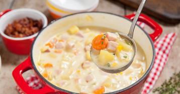 Суп с ветчиной и кукурузой