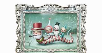 "Releases: Mark Ryden – ""Santa Worm"" Print"