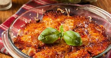 Запеченый картофель с мясом под сыром