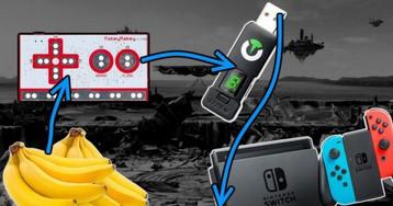Super Smash Bros. Ultimate played and partly won using bananas