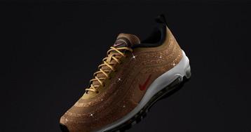 "Nike Unveils Swarovski Crystal-Covered ""Metallic Gold"" Air Max 97"