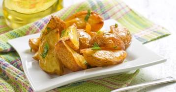 Запеченный картофель с чесноком и петрушкой