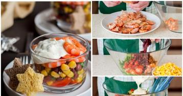 Салат с креветками по-мексикански: пошаговые фото