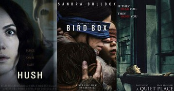This 'Bird Box' meme hilariously combines the horror of 'A Quiet Place' and 'Hush'