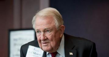 Acting AG Matt Whitaker Whispered DOJ Secrets In Edwin Meese's Ear