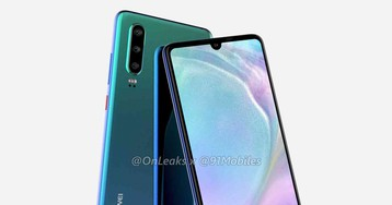 Huawei P30 renders show smaller notch and triple rear camera setup