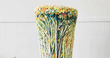 Artist Turns Beauty of Seasonal Woodlands into Colorful Ceramic Vases and Bowls