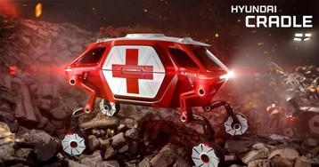 Hyundai walking car concept can drive, walk, and climb